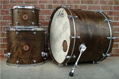 Anchor Drums 9x13, 16x18, 18x24 : Walnut Satin (Killer Wrap)