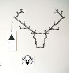 DIY: Deer Antler with Washi Tape