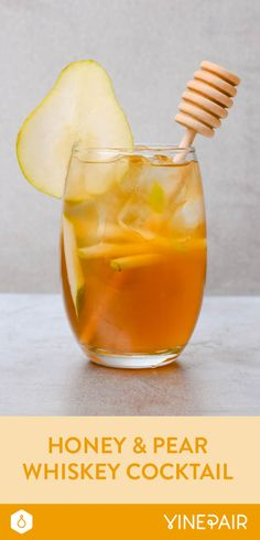 Honey and Pear Whiskey Cocktail Recipe