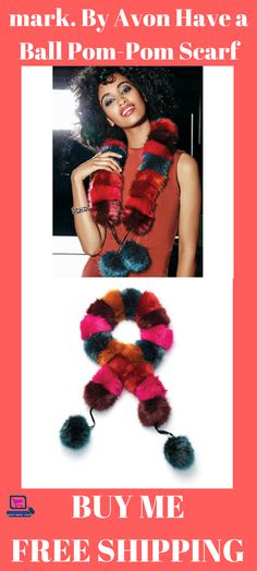 mark. By Avon Have a Ball Pom-Pom Scarf #scarfs #scarfforwomen #scarfforwomenwinter #fashion scarf for women | scarf for women winter | scarf for women fall fashion | scarf for women crochet | scarf for women silk scarves |