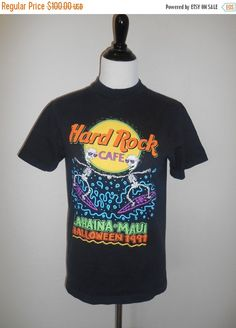 1 Day SALE Vintage black Hard Rock Cafe   by ATELIERVINTAGESHOP