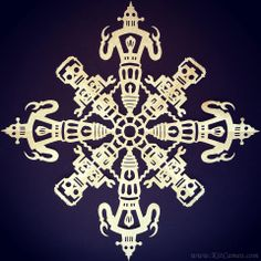 The Most Crazy-Cool Snowflakes You've Ever Seen Snowflake Designs, Snowflake Pattern, Diy Paper, Paper Crafts, Paper Snowflakes, Gremlins, Tardis, Paper Cutting, Pop Culture