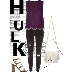 I wanted to create a hulk inspired outfit that didn't mix the worst purple and green in it. Everytime I cringe when I see one. |||| Hulk/Dr. Banner by el0723 on Polyvore featuring polyvore, fashion, style, Alice + Olivia, River Island, Valentino and Proenza Schouler