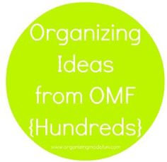 Hundreds of Organizing Ideas for your home and life!