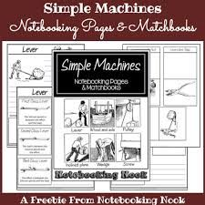 Notebooking Simple Machines - Included in this set: Cover Page Notebooking Pages for: • Lever • Wheel & Axle • Pulley • Inclined Plane • Wedge • Screw