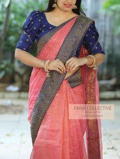 Pattu Saree Blouse Designs, Blouse Designs Silk, Designer Blouse Patterns, Bridal Blouse Designs, Salwar Designs, Simple Blouse Designs, Stylish Blouse Design, Sleeves Designs For Dresses, Sleeve Designs
