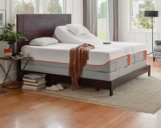 Adjustable ergonomic temperpedic bed frame