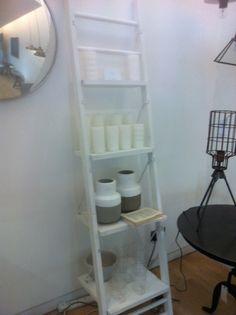 Shelves for le bathroom? Ladder Bookcase, Shelves, Bathroom, Home Decor, Washroom, Room Decor, Bathrooms, Shelf, Open Shelving