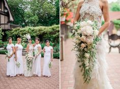St. Clements Castle Portland Sring-Summer Greenery River Vintage Classic 1920s Inspired Wedding