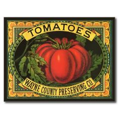 crate labels | ... Co Tomatoes Vintage Fruit Crate Label Art Post Card from Zazzle.com