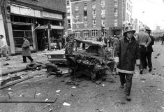 Aftermath of Dublin/Monaghan Bombings May 1974 Old Pictures, Old Photos, Irish News, Michael Collins, Photo Engraving, Republic Of Ireland, Dublin Ireland, Military Art, Street View