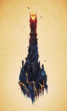 Barad-dur - Created by Justin CurrieYou can find Lord of the rings and more on our website.Barad-dur - Created by Justin Currie Jrr Tolkien, Gandalf, Legolas, Dark Fantasy, Fantasy Art, Justin Currie, Barad Dur, Lord Of The Rings Tattoo, The Lord Of The Rings