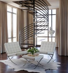 Meant as thrones for the visiting King and Queen of Spain, the Barcelona Chairs' design can be considered worthy of royalty. But the beauty of our modern world shows us how the chair can adorn a wide range of interior styles #barcelonachair #moderndesign  https://www.emfurn.com