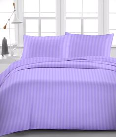 Soft 1 Fitted Sheet+2 Pillow Case Egyptian Cotton Drop 8-30'' Lavender Stripe