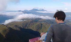 Signing the Log book at the summit. Lofoten, Great View, Scenery, Hiking, Book, Walks, Landscape, Paisajes, Trekking