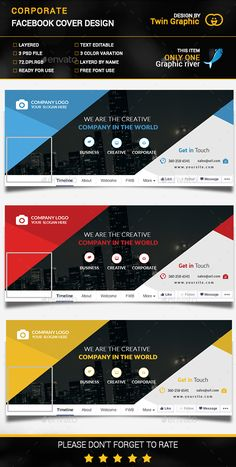 Make your facebook cover stand out ideal for real estate agent this is corporate cover photo design this template download contains 3 color cover photo design flashek Choice Image