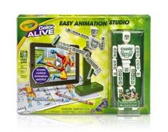With the Crayola Color Alive Easy Animation Studio kids can easily make their own animations while drawing some inspiration from the Crayola Easy Animation Studio app.