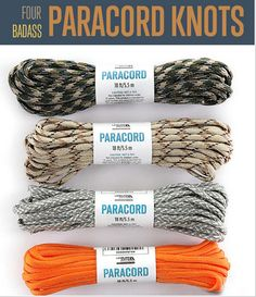 Tutorials for making 4 awesome paracord knots.