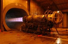 An F110 jet engine is tested inside the Engine Test Cell operated by the 20th Component Maintenance Squadron at Shaw Air Force Base, S.C., on September 9, 2004. (U.S. Air Force photo by STAFF SGT. Josef Cole) (Released) - PICRYL Public Domain Image