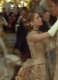 Kitty's cream ball gown from Anna Karenina 1997 - another side close up   picture by costumersguide - Photobucket