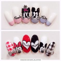 #mickey 살롱드르미에르 홈방문하기 젤네일전문, 꼼꼼한기본케어, 드릴케어, 미대출신원장님, 원장님1:1시... Cartoon Nail Designs, Nail Art Designs, Funky Nails, Love Nails, Korea Nail Art, Pop Art Nails, Feet Nail Design, Anime Nails, Mickey Mouse Nails