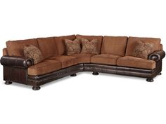 Shop for Bernhardt Foster Fabric/Leather Sectional Group, 5191 Sect, and other Living Room Sectionals at Gibson Furniture in Andrews, NC. Consist of: 5191LCO and 5192LCO.