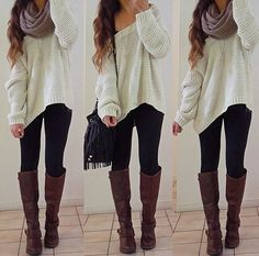 Oversized sweaters and leggings have to be the greatest thing about fall