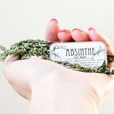 Love this as part of a bridesmaids gift box / care package! Absinthe Lip Balm :: Anise Vanilla Artemisia by Phoenix Botanicals #wedding #favor