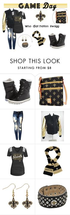 """""""Game Day Look"""" by msrayniquedzigns on Polyvore featuring football, New, gameday, saints and 60secondstyle"""
