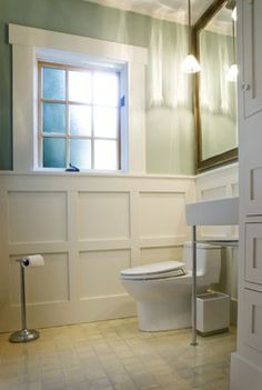 Interior Moulding Design Ideas, Pictures, Remodel and Decor Bathroom Renovations, Home Renovation, Moulding And Millwork, Wood Molding, Mold In Bathroom, Beach Bathrooms, Hall Bathroom, Basement Bathroom, Cottage Design
