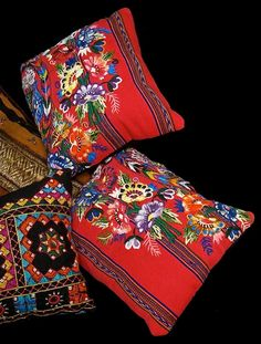 Guatemelan embroidered pillows