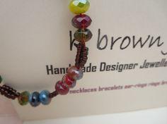 Handmade Unique Multi coloured Bead Bracelet by KBrownJewellery, £22.00  www.kbrownjewellery.etsy.com for designer unique jew