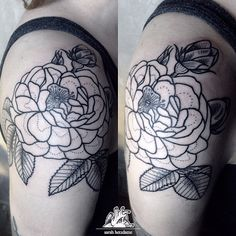 beautiful rose for beautiful @weirdground #rose #flower #tattoo #linework #outlines #dotwork #tattoo #girlswithtattoos #herzdame #tilldth #dortmund