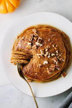 PUMPKIN SPICE PANCAKES... Fall has arrived, celebrate the beginning of the fall season with these light, moist and flavorful pancakes!