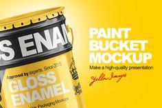 Paint Bucket Free Mockup
