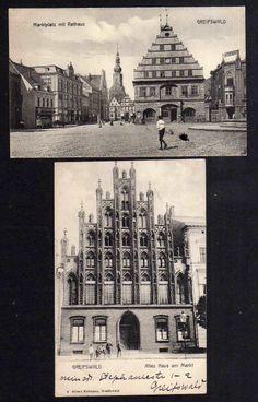 93294 2 AK Greifswald Markt Rathaus Apotheke 1910 Altes Haus am Markt   eBay