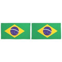 Brazil flag Brazilian pillow cases