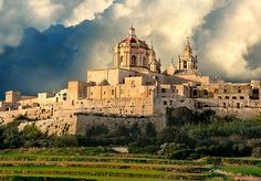 Mdina, one of Europe's finest examples of an ancient walled city with a mix of medieval and Baroque architecture. Apparently home to Paul the Apostle during his shipwreck.