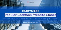 CashCraft offers Ready-made Popular Cashback Website Clones Huge Sale, Business Website, Affiliate Marketing, Script, Coupon, Product Launch, Popular, Most Popular, Script Typeface