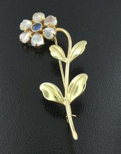 81cbb8d7465 Vintage Designer Fine Pins & Brooches | eBay. Flower BroochBrooch ...