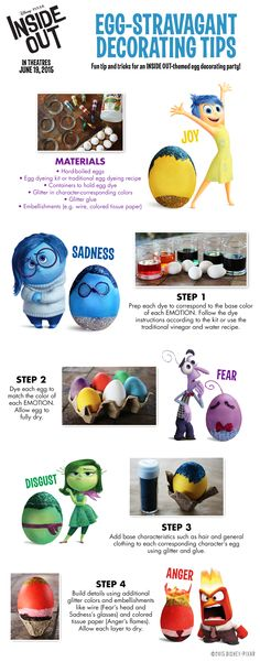 Get egg-cited for this #InsideOut egg decorating tutorial!