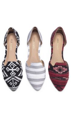 Patterned and Striped Flats