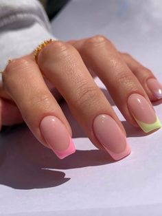 Simple Acrylic Nails, Square Acrylic Nails, Best Acrylic Nails, Square Nails, Simple Nails, Frensh Nails, Soft Nails, Neutral Nails, Nail Manicure