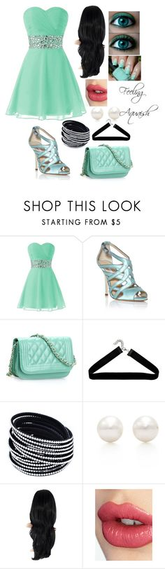 """Feeling Aquaish"" by sophia-ta on Polyvore featuring Oscar de la Renta, Tiffany & Co. and Charlotte Tilbury"