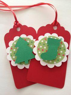 Árbol de Navidad regalo etiquetas medias regalo por PaperStrip,