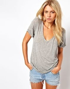 I love me a soft grey tee!  Add this staple to your collection.  I just did. :)