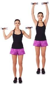 Tone Your Shoulders – With Dumbbells --  overhead press