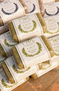 Favor Ideas: A Paso Robles Vineyard Wedding with Pretty Soaps as Favors. Photo by Lindsey Hahn Photography on Style Unveiled