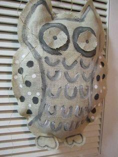 #burlap white owl