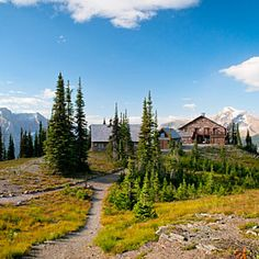 Granite Park Chalet, Glacier --  You hike six hours along the top of the Rockies to get to this 1914 Montana chalet.